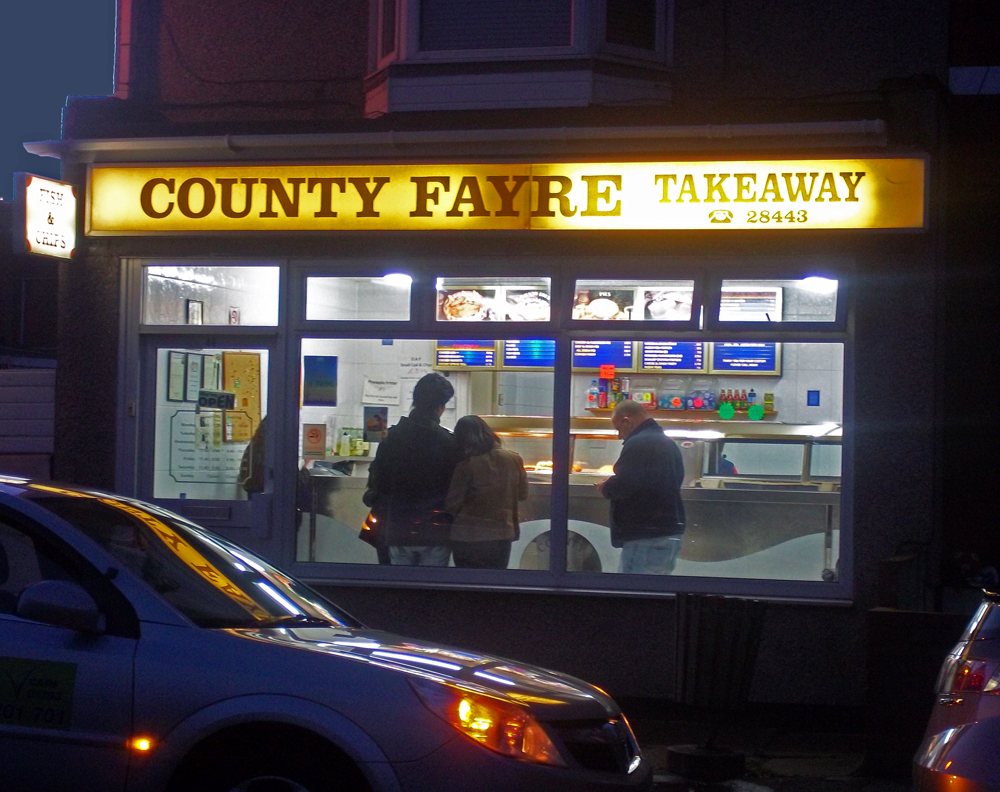 county fayre york road chippy