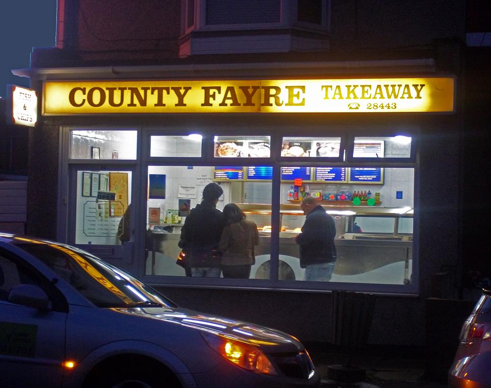 county fayre york road chippy