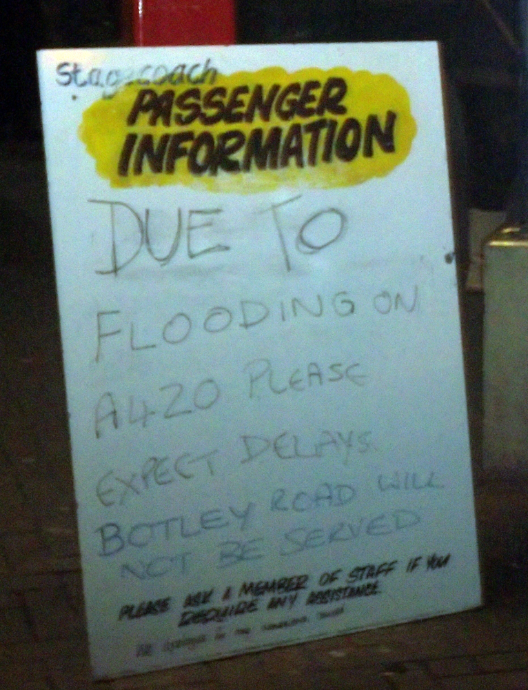 stagecoach swindon 2014-01-08 flood delays