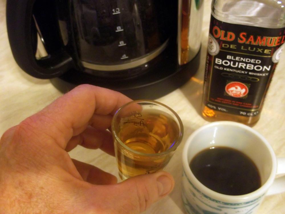 Bourbon and coffee