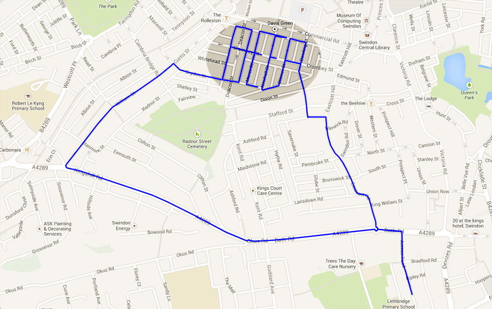 2014-04-15 swindon beer run map