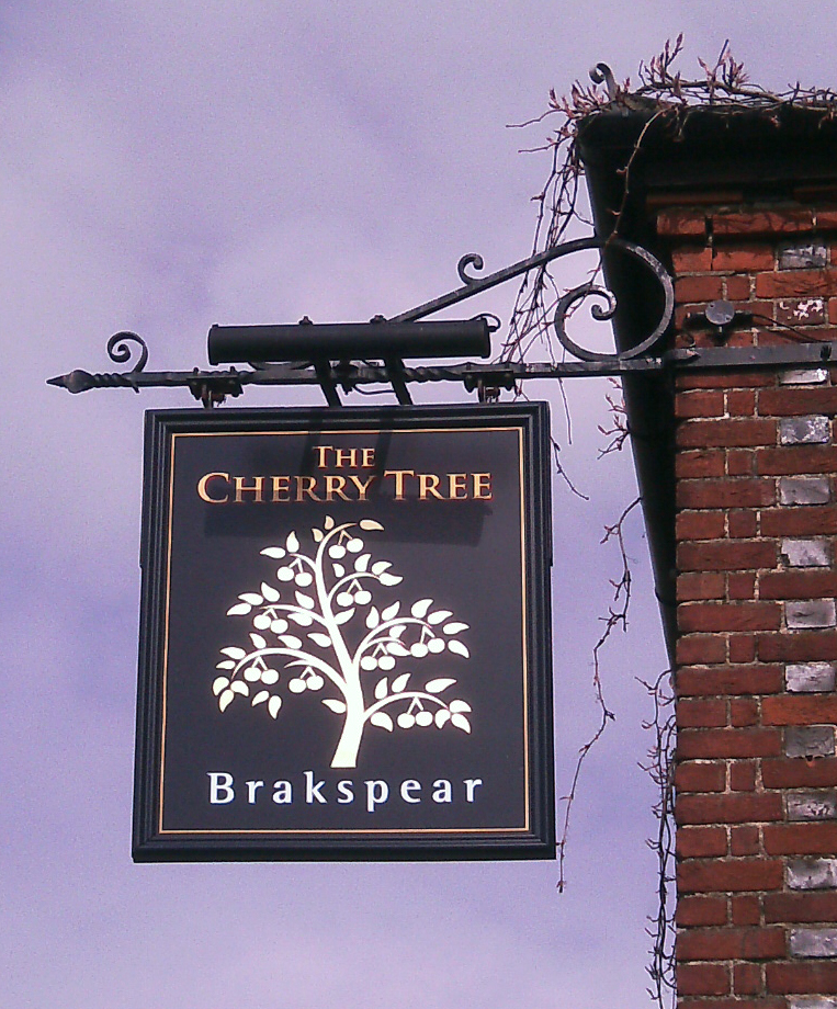 Cherry Tree Kington Blount sign