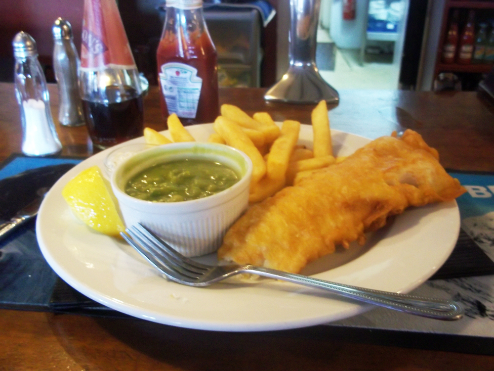 fish and chips Baker's Arms Badbury