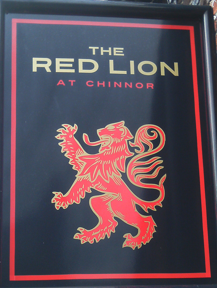 Red Lion Chinnor sign