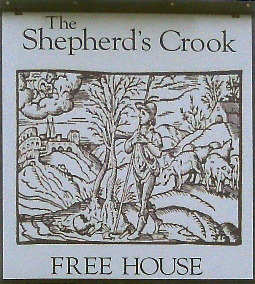 Shepherd's Crook Crowell sign