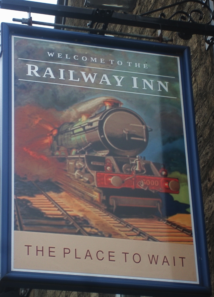 Railway Inn Westbury sign