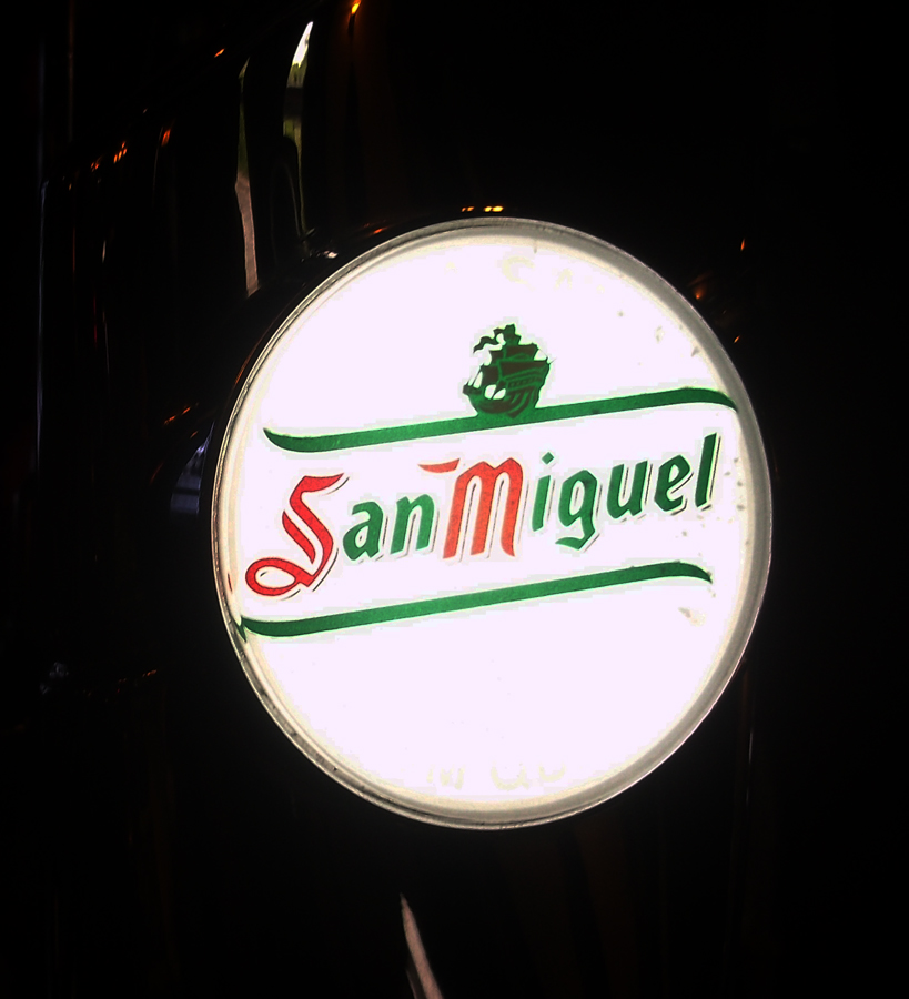 San Miguel tap Railway Inn Westbury