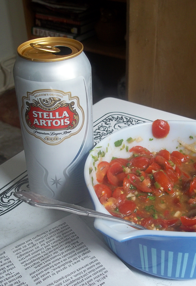 Stella Artois and salsa