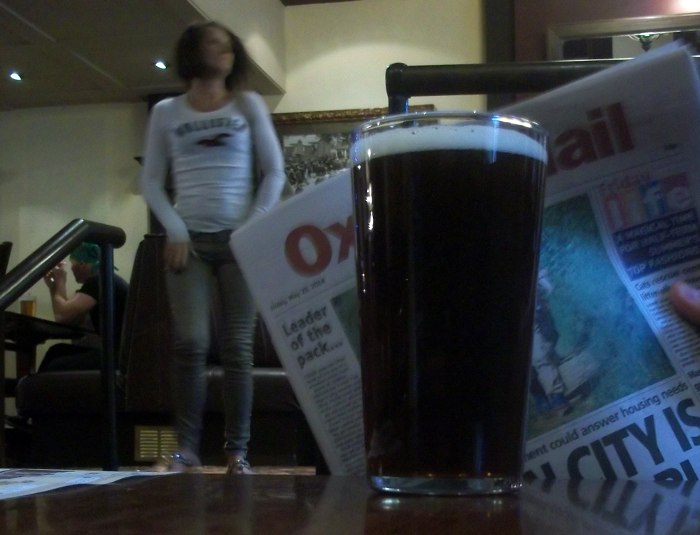 That One Penny Black pint