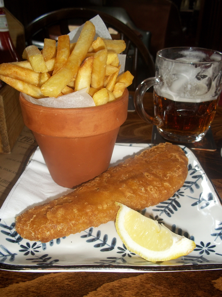 Victoria Oxford haddock and chips