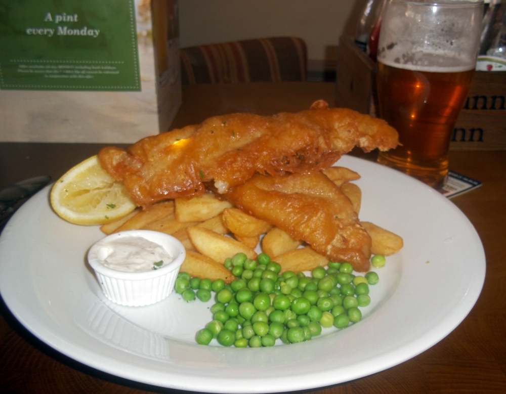 Fish and chips at the Britannia