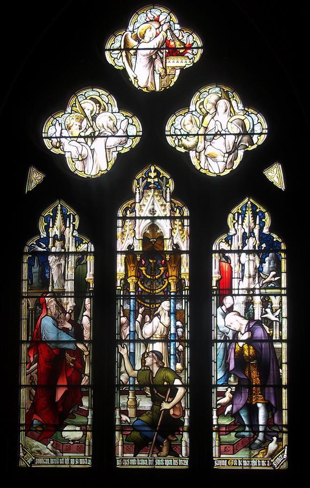 Tewkesbury Abbey windows publican