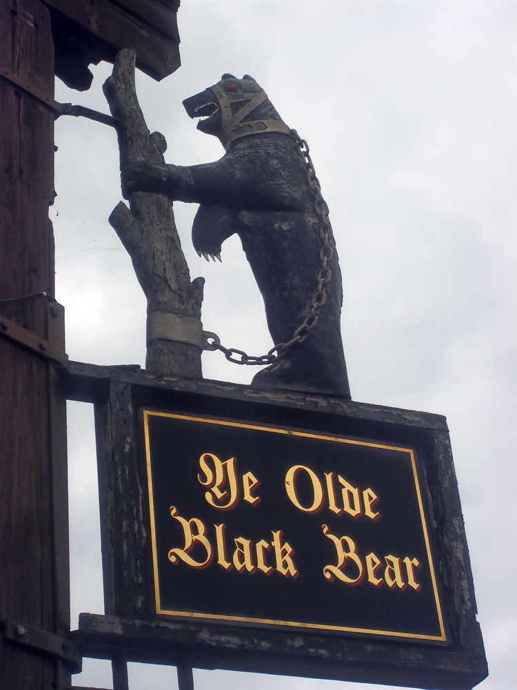 Ye Olde Black Bear Tewkesbury sign