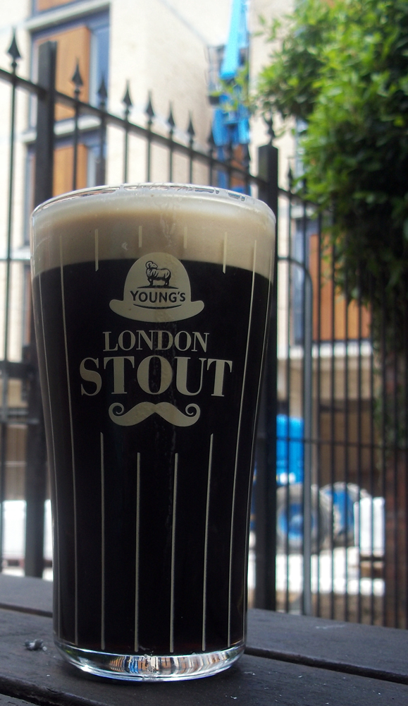 Young's London Stout Angel and Greyhound