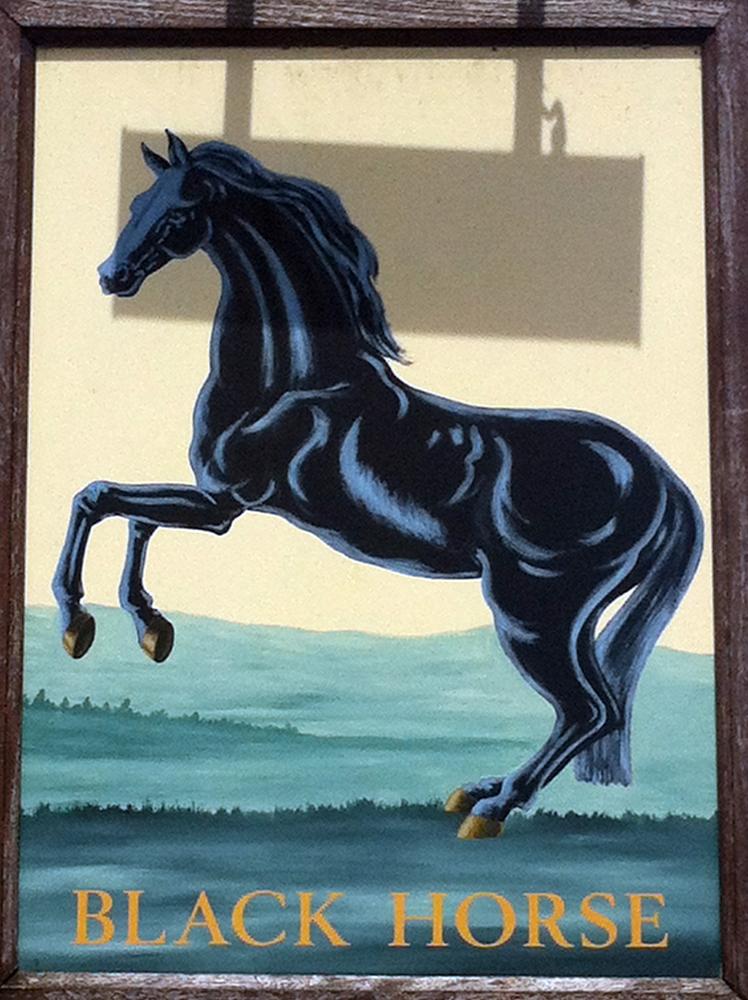 Black Horse Hurdcott sign