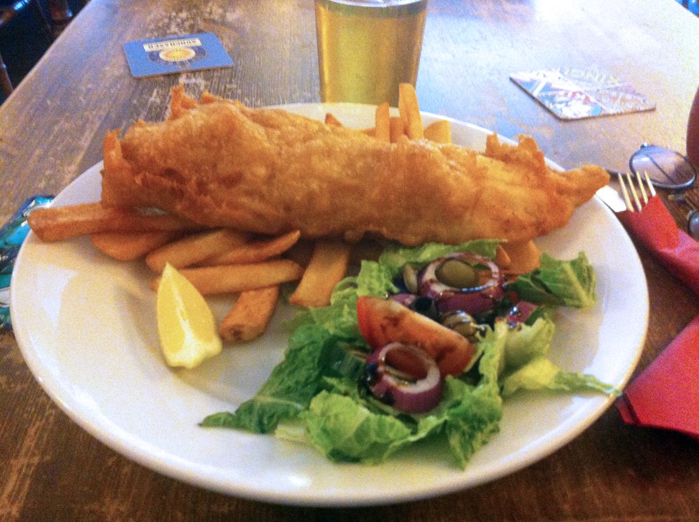 Cod and chips at White Hart