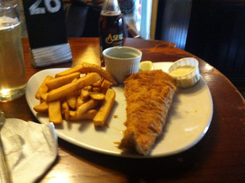 Fish and Chips Turf Tavern