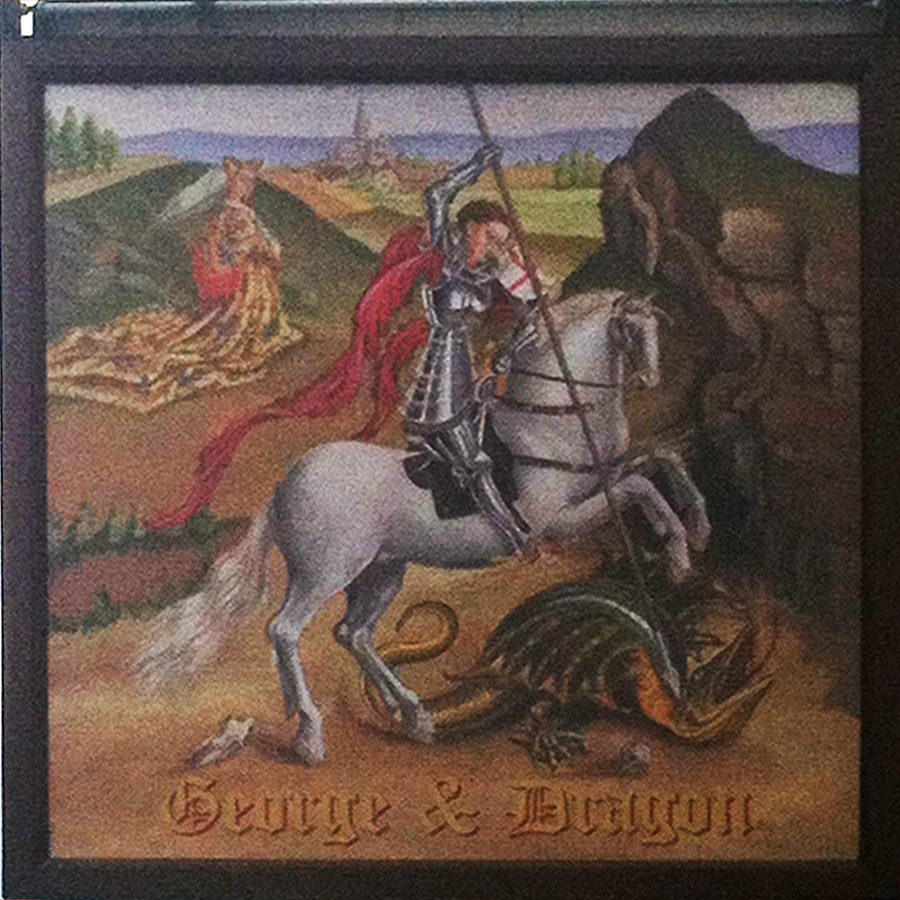 George and Dragon Salisbury sign