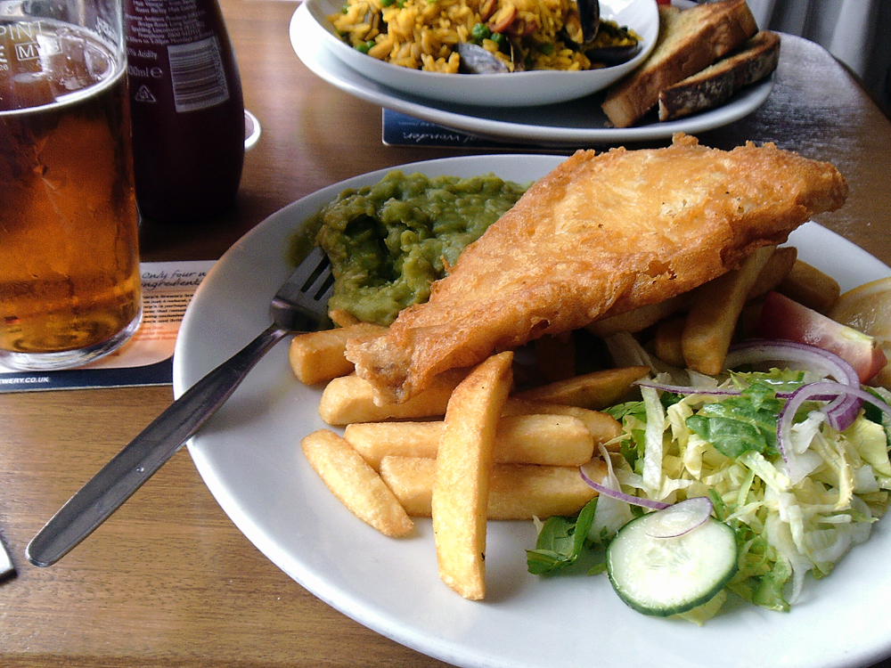 cod and chips Cove House Inn Portland