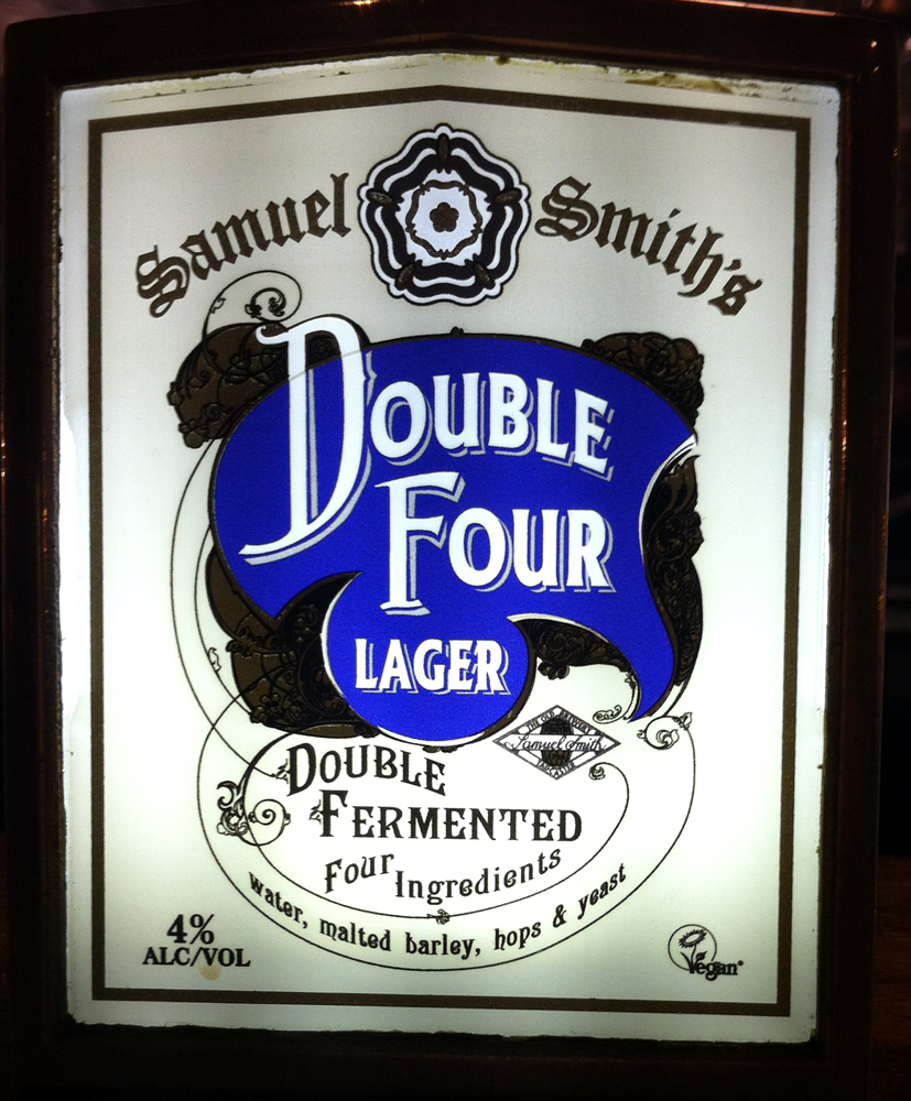 Double Four Lager tap