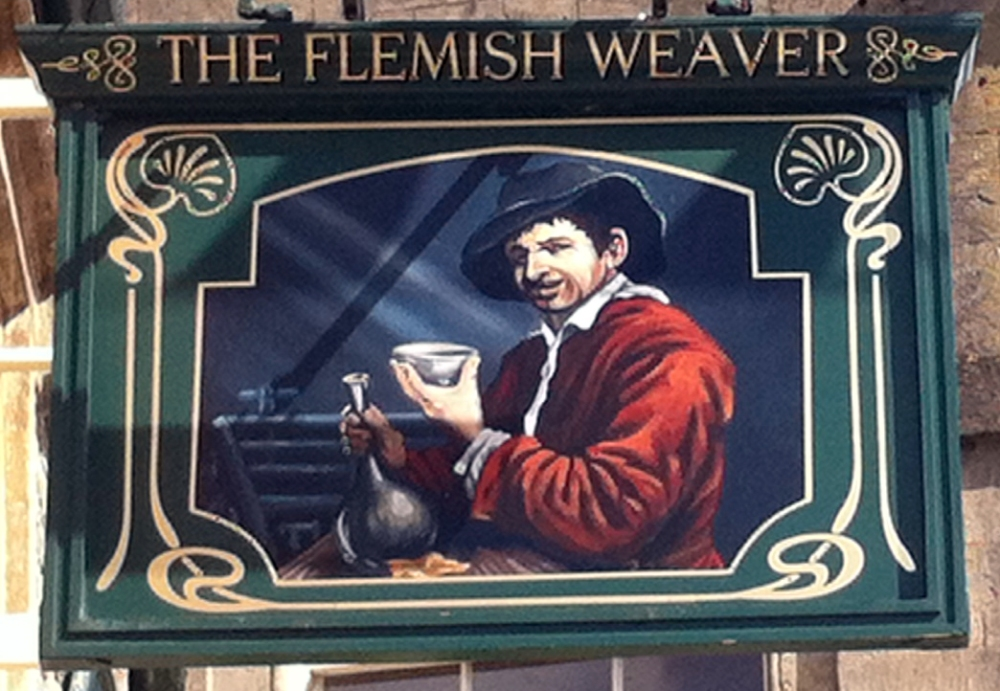 Flemish Weaver Corsham sign
