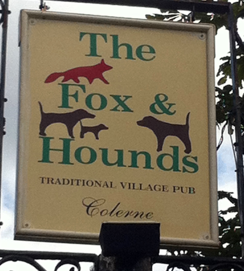 Fox and Hounds Colerne sign