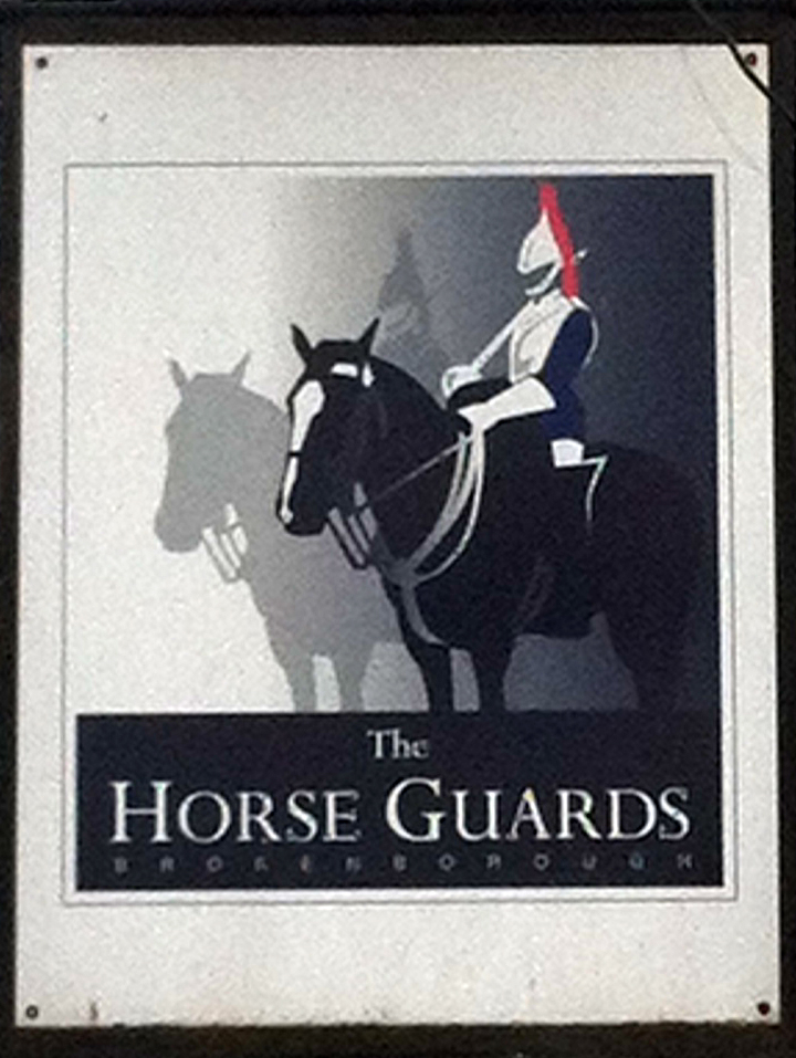 Horse Guards Brokenborough sign