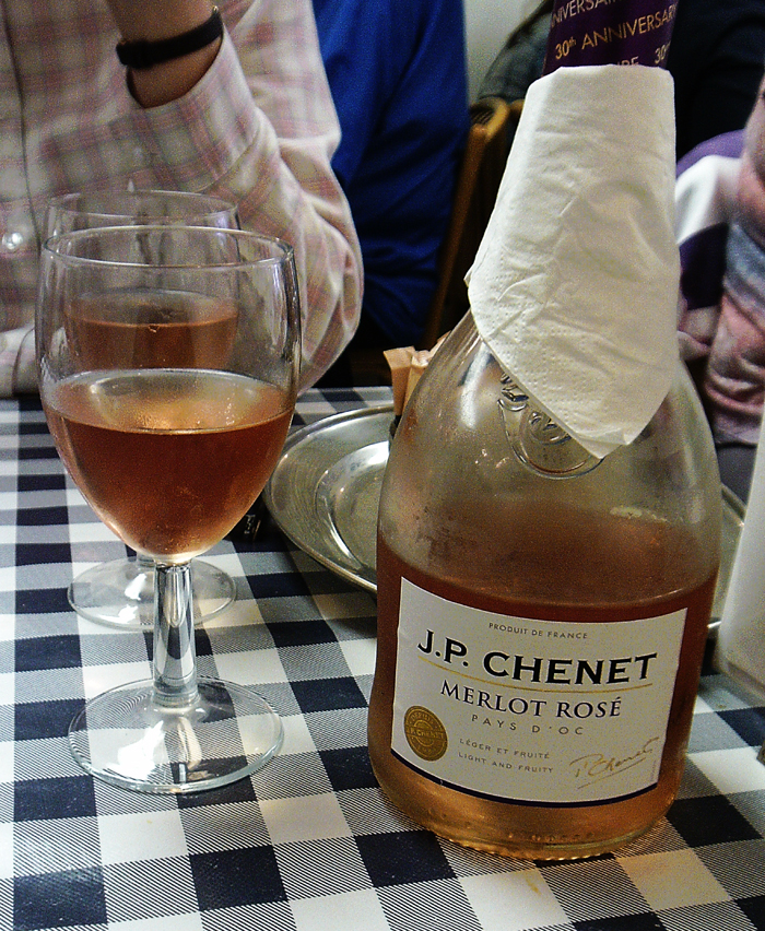 JPChenet Merlot Rose Old Harbour Fish and Chips Weymouth