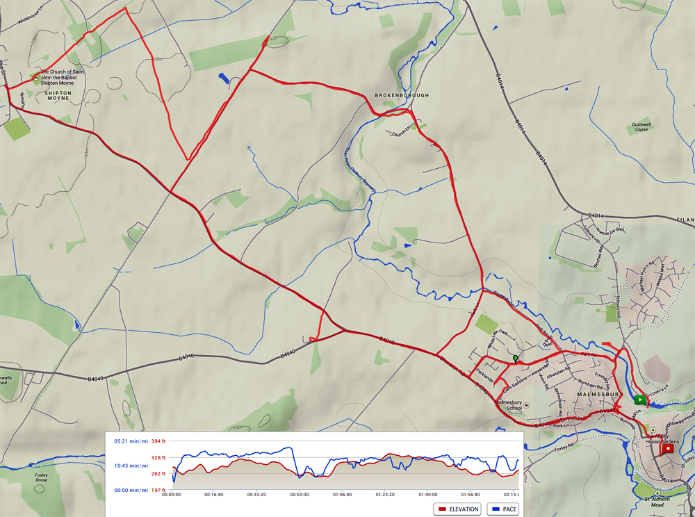 Malmesbury 10K with 2nd pub crawl loop included