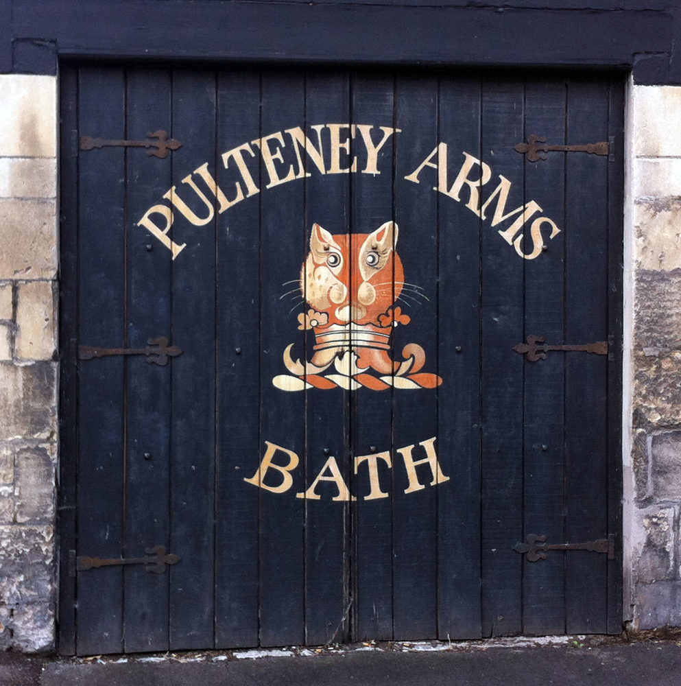 Pulteney Arms Bathwick sign