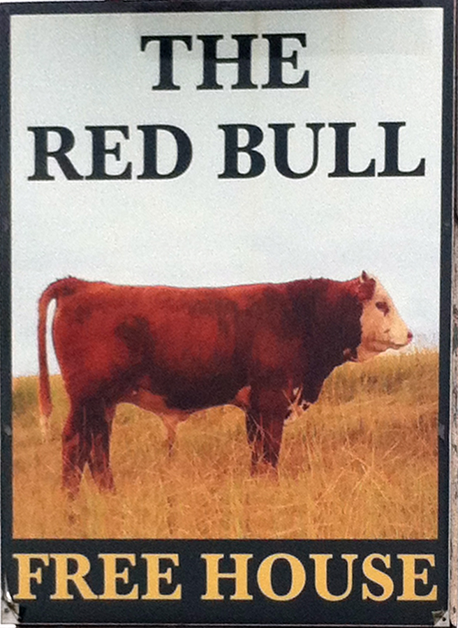 Red Bull Inn Malmesbury sign
