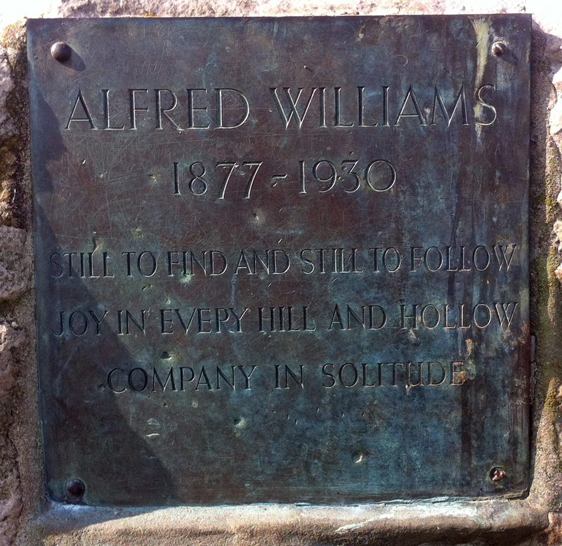 Alfred Williams monument Ridgeway detail