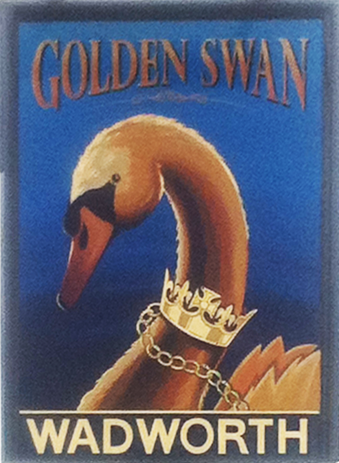 Golden Swan Wilcot sign front
