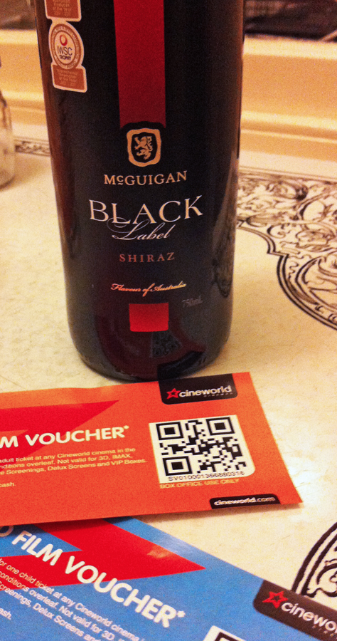 McGuigan Black Label Shiraz and spot prizes