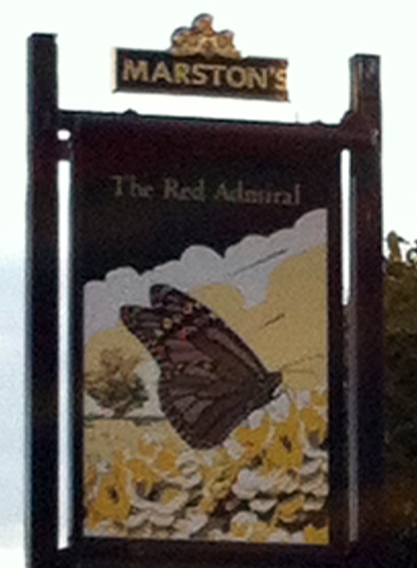 Red Admiral Hilperton sign