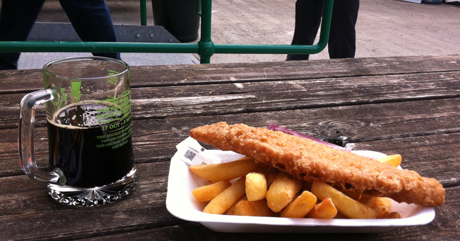 2014 Swindon Beer Fest cod and chips