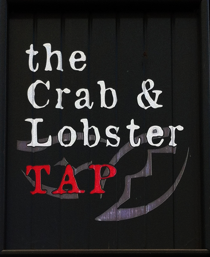Crab and Lobster Tap Ventnor sign