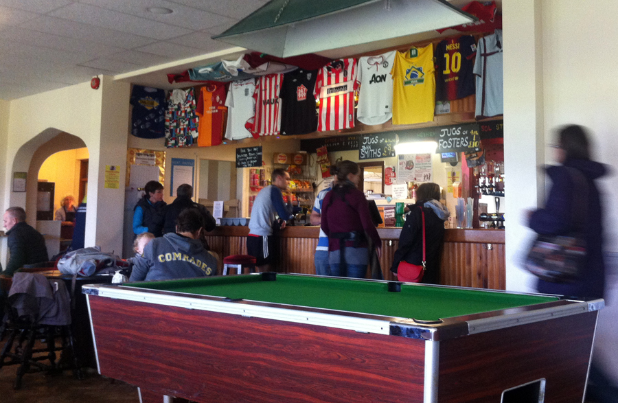 IOW Community Club bar