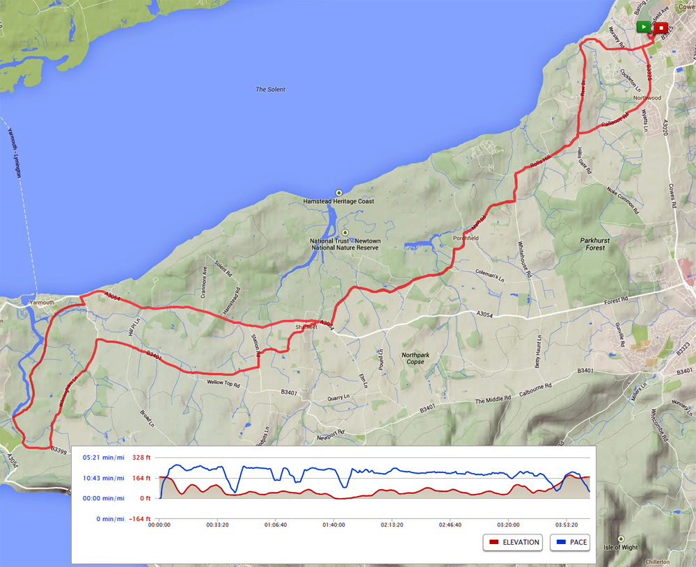 IOW marathon map