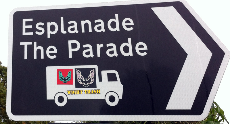 IOW signage