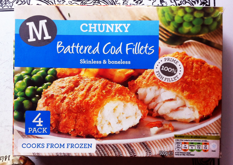 Morrisons Battered Cod Fillets box