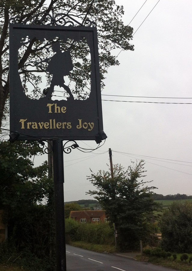 Traveler's Joy Northwood sign