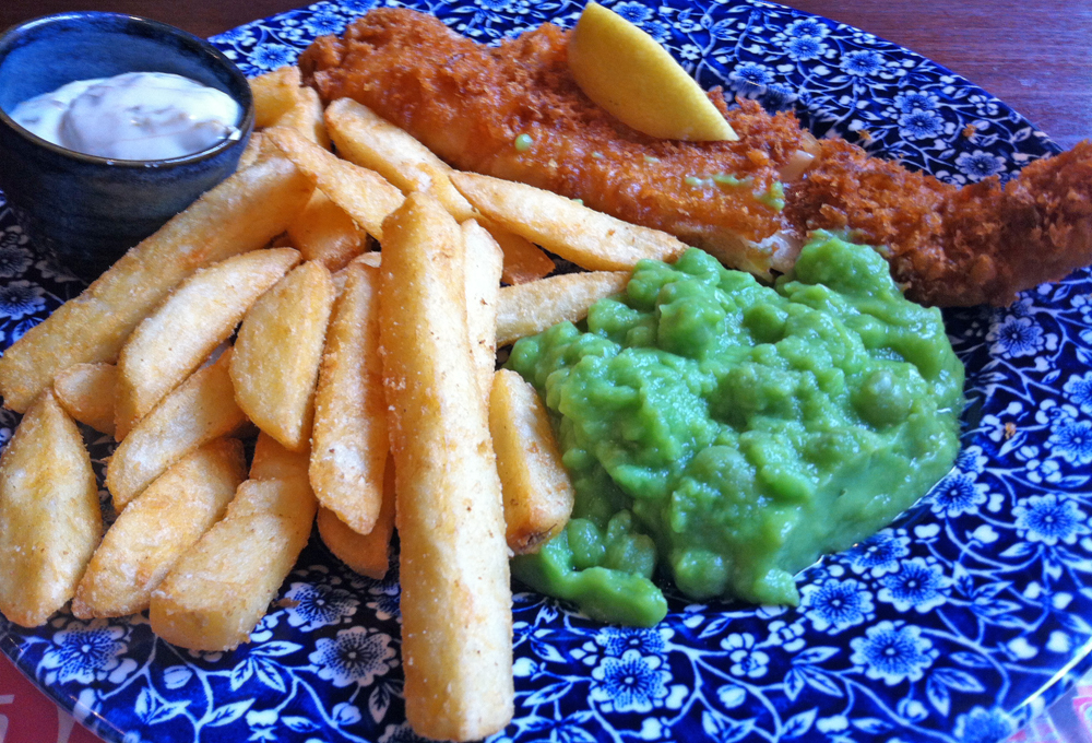 William Morris cod and chips