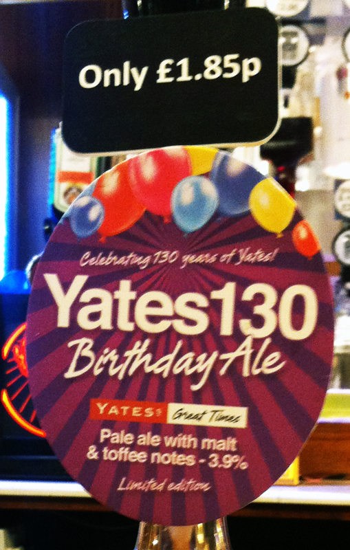 Yates 130 Birthday Ale pump