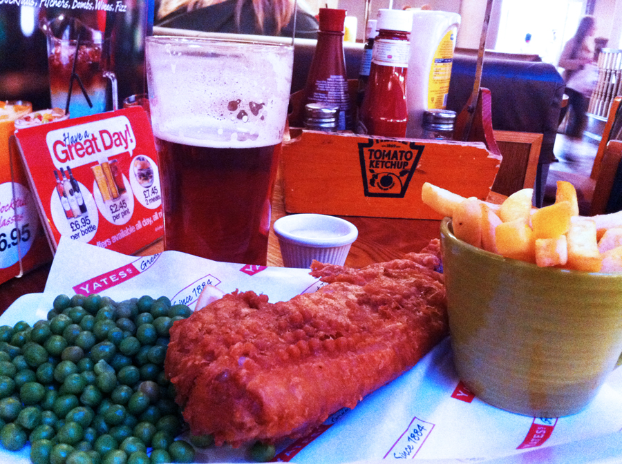 Yates fish and chips Swindon