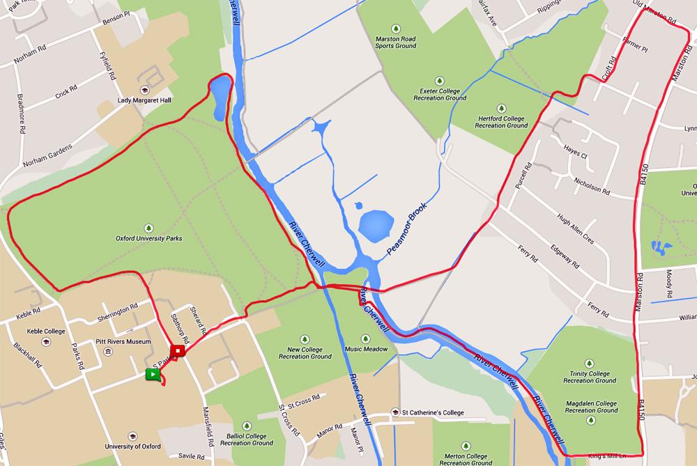 2014-11-25 oxford lunch run