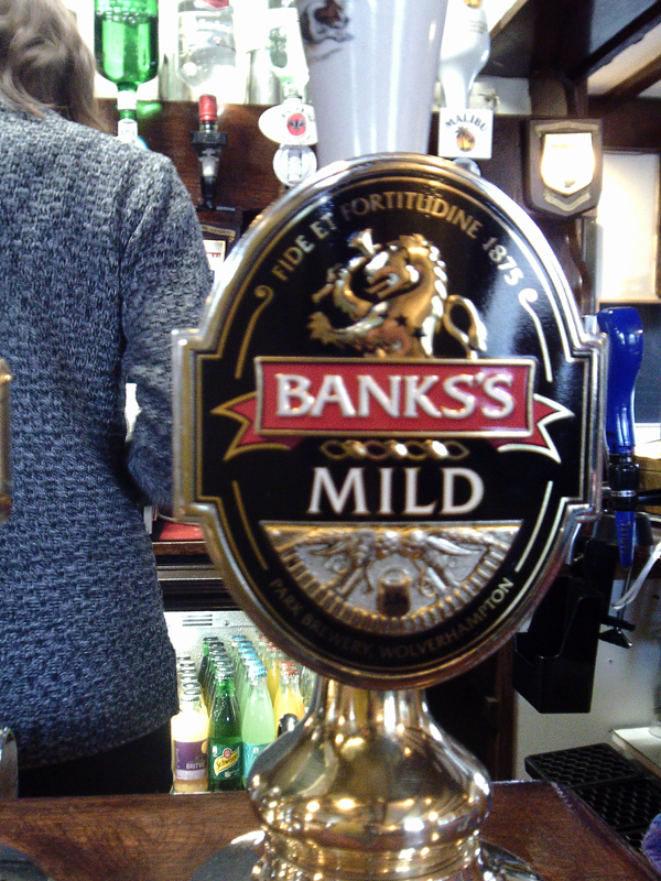Alma Tavern Worcester Banks Mild pump
