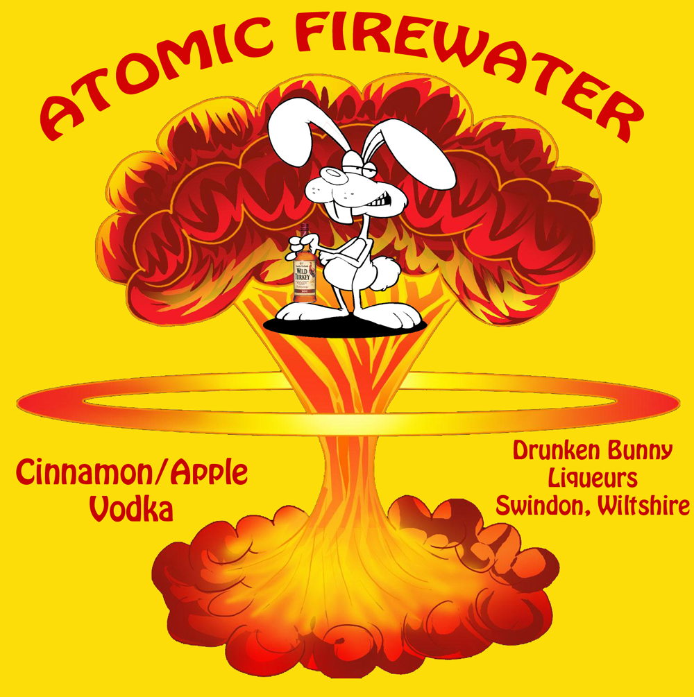 Atomic Fire Water label