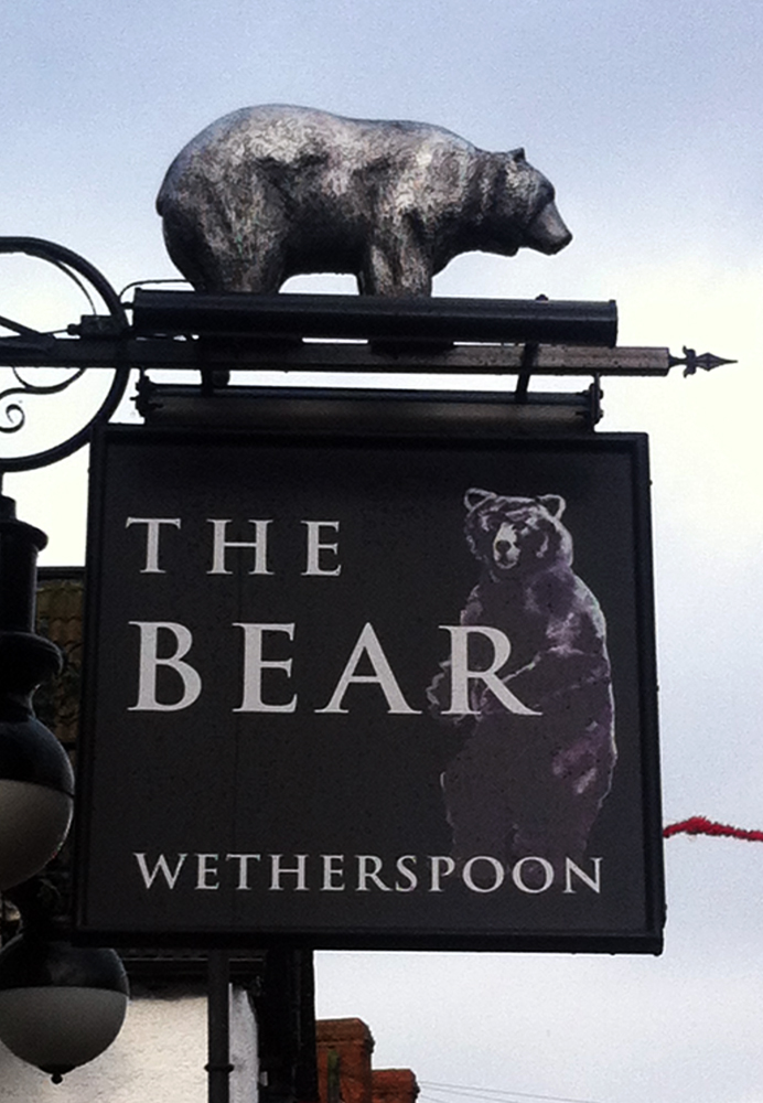 Bear Melksham sign