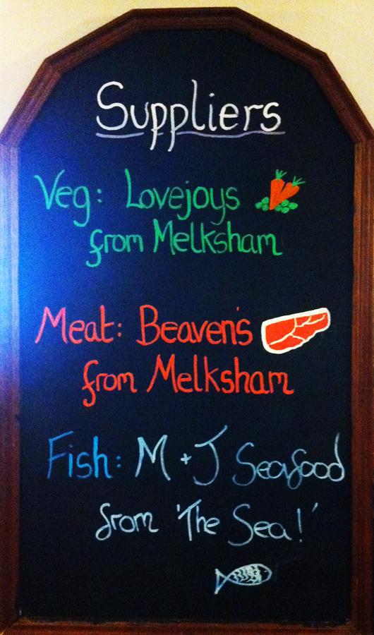 Bell Inn Seend kitchen suppliers